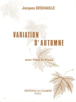 Jacques Deshaulle - Variation d'automne - Partition - di-arezzo.fr