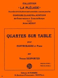 Yvonne Desportes - Quartes sur table - Partition - di-arezzo.fr