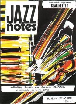 Devogel Jacques / Naulais Jérôme - Jazz Notes - Clarinette 1 (Clarinette Piano) - Partition - di-arezzo.fr