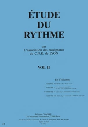 de Lyon C.N.R. - Study of rhythm - Volume 2 - DE1 - Sheet Music - di-arezzo.co.uk