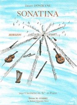 Sonatina Désiré Dondeyne Partition Clarinette - laflutedepan