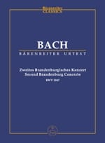 BACH - Brandenburgisches Konzert Nr. 2. Urtext of Neuen Bach-Ausgabe F-hard - Sheet Music - di-arezzo.co.uk