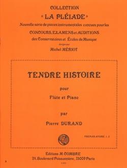 Tendre histoire - Pierre Durand - Partition - laflutedepan.com