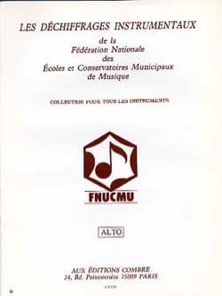 F.N.U.C.M.U - Déchiffrages instrumentaux – Alto - Partition - di-arezzo.fr