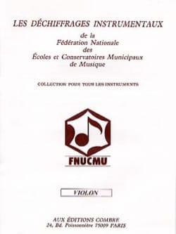 F.N.U.C.M.U - Déchiffrages instrumentaux – Violon 2ème Série - Partition - di-arezzo.fr