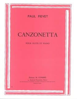 Paul Fiévet - Canzonetta - Partition - di-arezzo.fr