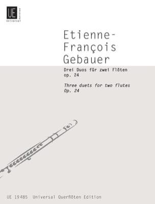 Etienne-François Gebauer - 3 Duos op. 24 - 2 Flöten - Partition - di-arezzo.fr