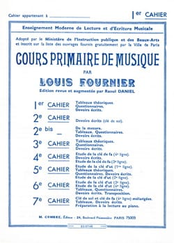Louis Fournier - Primary Music Course # 1 - Sheet Music - di-arezzo.co.uk