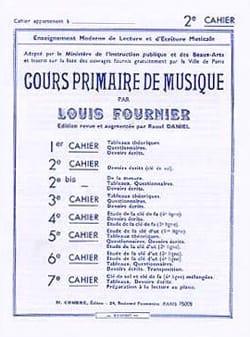 Louis Fournier - Cours primaire de musique n° 2 - Partition - di-arezzo.fr