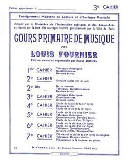 Cours primaire de musique n° 3 Louis Fournier Partition laflutedepan