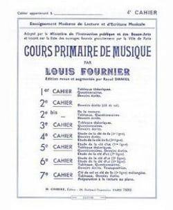 Louis Fournier - Cours primaire de musique n° 4 - Partition - di-arezzo.fr