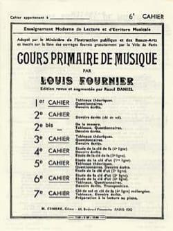 Louis Fournier - Cours primaire de musique n° 6 - Partition - di-arezzo.fr