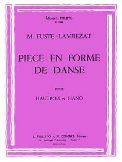 Pièce en Forme de danse Michel Fusté-Lambezat Partition laflutedepan