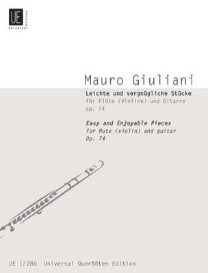 Mauro Giuliani - Leichte Und Vergnügliche Stücke Op 74 – Flöte (Violine) Gitarre - Partition - di-arezzo.fr