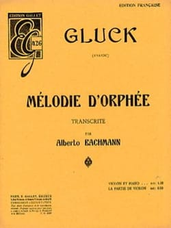 GLUCK - Melody of Orpheus - Sheet Music - di-arezzo.co.uk