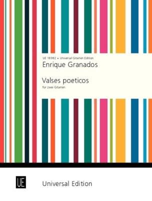 Valses poeticos für 2 Gitarren GRANADOS Partition laflutedepan