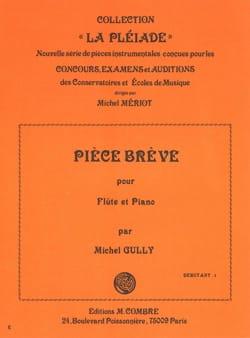 Michel Gully - Pièce brève - Flute et Piano - Partition - di-arezzo.fr