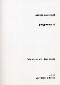 Jacques Guyonnet - Polyphonie III - Partition - di-arezzo.fr