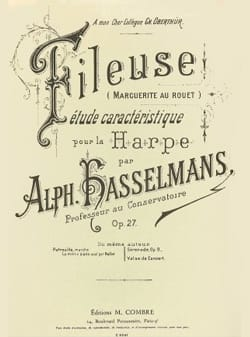 Alphonse Hasselmans - The Fileuse op 27 - Harp - Sheet Music - di-arezzo.co.uk