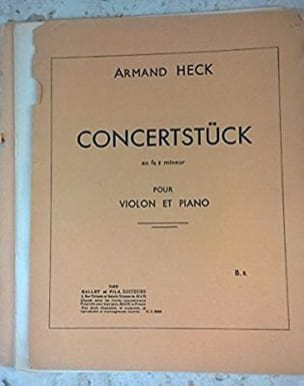 Concertstück en fa dièse mineur - J. Armand Heck - laflutedepan.com