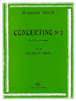 J. Armand Heck - Concertino n ° 3 op. 33 in D major - Sheet Music - di-arezzo.com