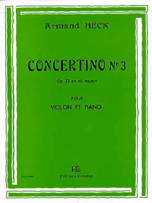 J. Armand Heck - Concertino n° 3 op. 33 en ré majeur - Partition - di-arezzo.fr
