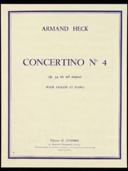 J. Armand Heck - Concertino n ° 4 op. 34 in G major - Sheet Music - di-arezzo.co.uk