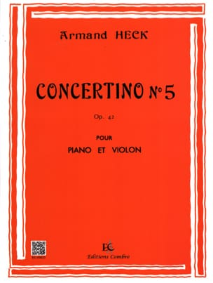 J. Armand Heck - Concertino n ° 5 op. 42 - Sheet Music - di-arezzo.co.uk