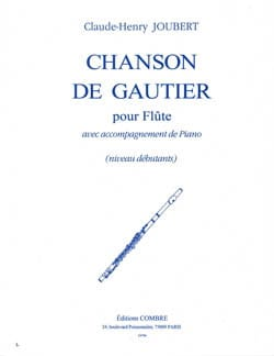 Claude-Henry Joubert - Song of Gautier - Sheet Music - di-arezzo.com