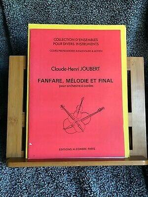 Claude-Henry Joubert - Fanfare Melodie et Final - Partition - di-arezzo.fr