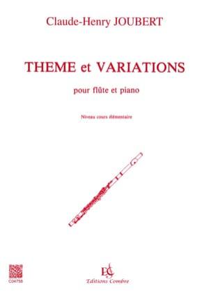 Claude-Henry Joubert - Thème et variations - Flûte - Partition - di-arezzo.fr