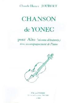 Chanson de Yonec Claude-Henry Joubert Partition Alto - laflutedepan
