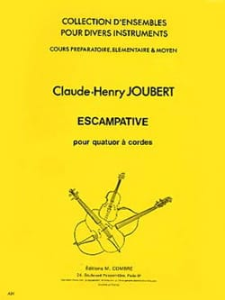 Escampative - 4 Violons Claude-Henry Joubert Partition laflutedepan