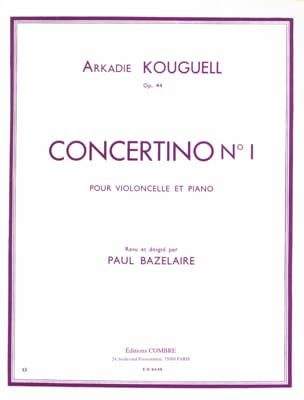 Concertino n° 1 op. 44 Arkadie Kouguell Partition laflutedepan