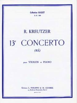 Rodolphe Kreutzer - Concerto n° 13 - Partition - di-arezzo.fr