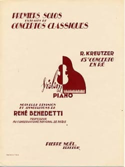 Rodolphe Kreutzer - 1st solo of the Concerto n ° 13 Benedetti - Sheet Music - di-arezzo.co.uk