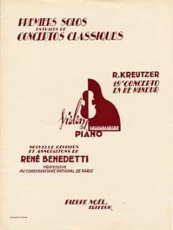Kreutzer Rodolphe / Benedetti René - 1er Solo de Concierto No. 19 Benedetti - Partitura - di-arezzo.es
