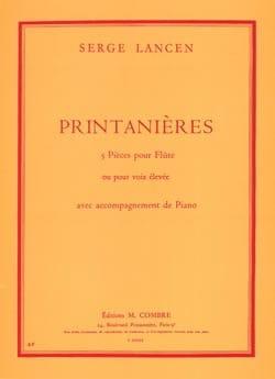 Printanières Serge Lancen Partition Flûte traversière - laflutedepan
