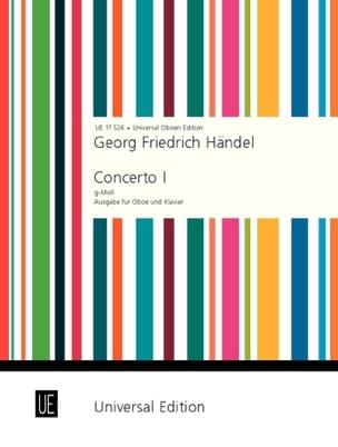 HAENDEL - Concerto n° 1 g-moll - Oboe Klavier - Partition - di-arezzo.fr