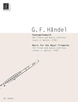 Feuerwerksmusik HAENDEL Partition Flûte traversière - laflutedepan