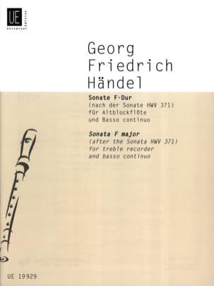 Sonate F-Dur für Altblockflöte u. Bc (nach HWV 371) - laflutedepan.com