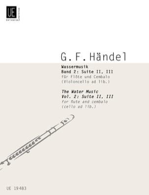 Wassermusik - Bd. 2 : Suite 2, 3 - Flöte u. Cembalo Cello ad lib. - laflutedepan.com