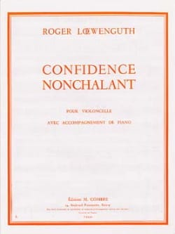 Confidence - Nonchalant Roger Loewenguth Partition laflutedepan