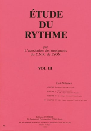 de Lyon C.N.R. - Study of rhythm - Volume 3 - DE2 - Sheet Music - di-arezzo.co.uk