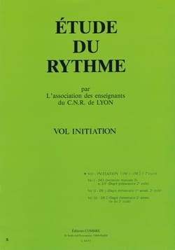 de Lyon C.N.R. - Study of rhythm - Volume Initiation - Sheet Music - di-arezzo.co.uk