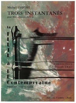 Michel Lysight - Trois instantanés - Flûte à bec clavecin - Partition - di-arezzo.fr