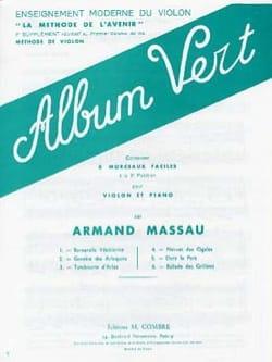 Armand Massau - Album vert - Partition - di-arezzo.fr