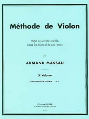 Méthode de Violon Volume 3 Armand Massau Partition laflutedepan