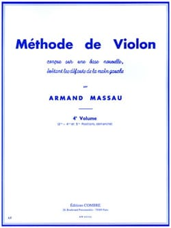 Armand Massau - Méthode de Violon Volume 4 - Partition - di-arezzo.fr