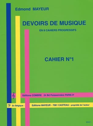 Edmond Mayeur - Duties of music n ° 1 - Sheet Music - di-arezzo.com